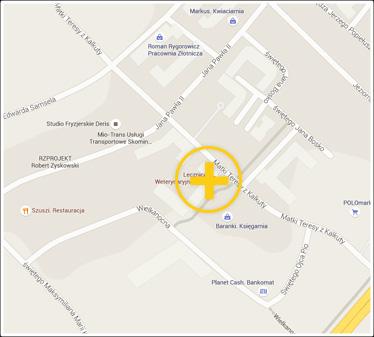 Przychodnia Veta w Google Maps